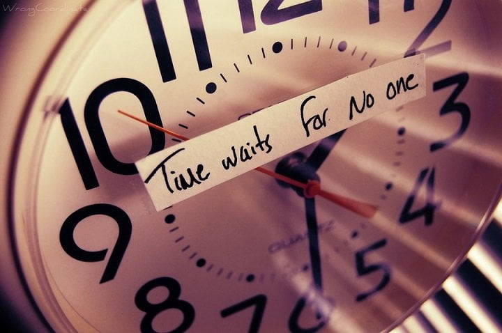 Time does not wait for anyone