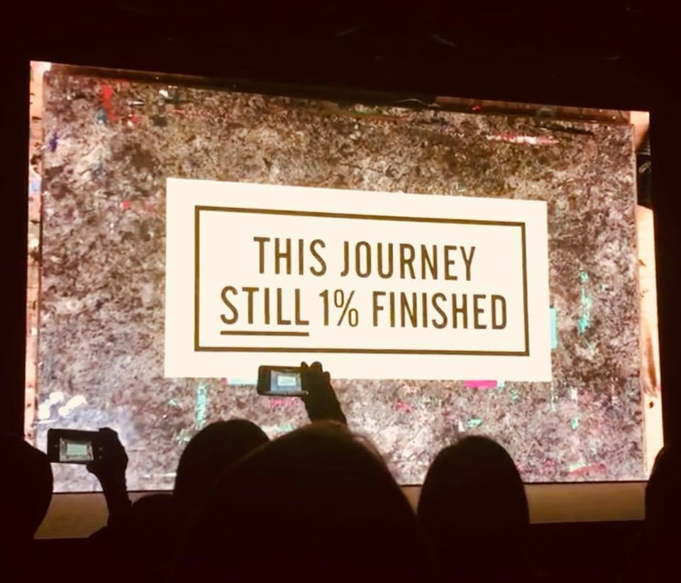 the journey is 1% finished