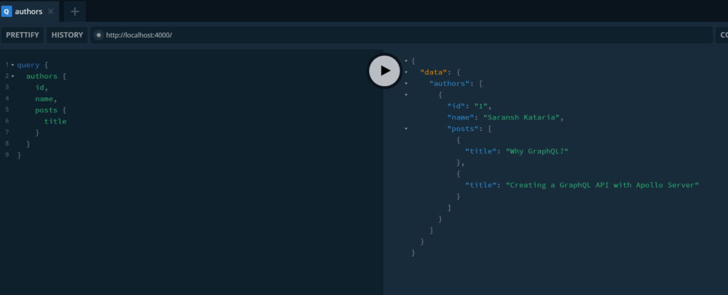 nested queries in graphql
