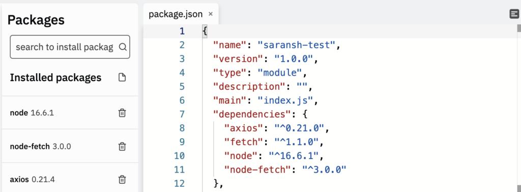installing custom node version in repl.it